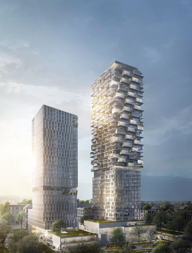 markante architektur f r neues hochhausquartier auf dem. Black Bedroom Furniture Sets. Home Design Ideas